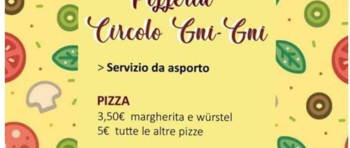Pizza e altro da ASPORTO al Circolo GNI GNI della Pubblica Assistenza